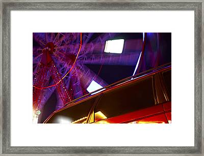 Giddy Lights Framed Print