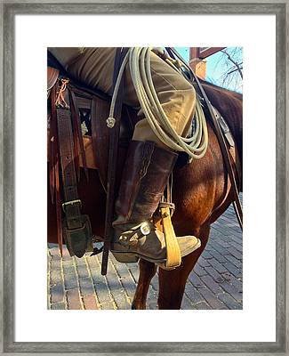 Giddyup Framed Print by Dee Dee  Whittle