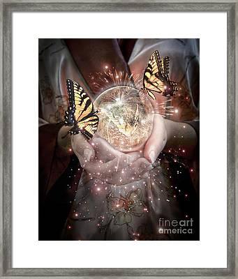 Fantasy- Gift Of Magic Framed Print by Feryal Faye Berber