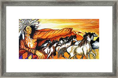 Gift Of The Pinto Framed Print