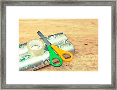 Gift Wrapping Framed Print by Tom Gowanlock