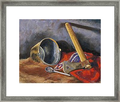 Gifts Of The Ax Makers Framed Print by Jennifer Richard-Morrow