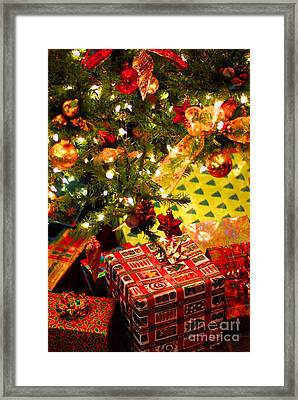 Gifts Under Christmas Tree Framed Print