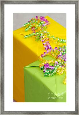 Gifts With Ribbon Framed Print by Amy Cicconi