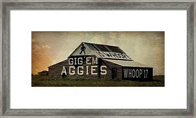Gig Em Aggies Framed Print