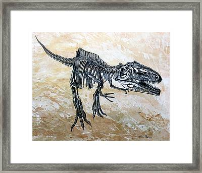 Giganotosaurus Skeleton Framed Print by Harm  Plat
