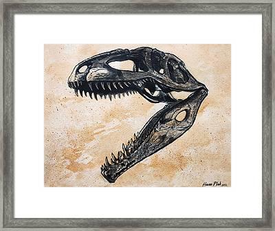 Giganotosaurus Skull Framed Print by Harm  Plat