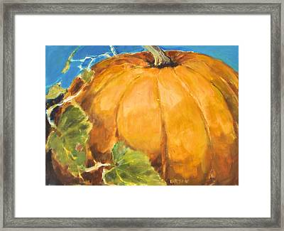 Gigantic Pumpkin Framed Print