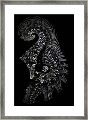 Framed Print featuring the digital art Gigeresque II by Lea Wiggins