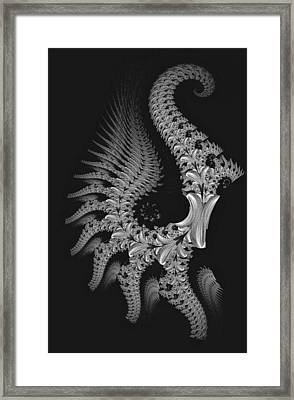 Framed Print featuring the digital art Gigeresque by Lea Wiggins