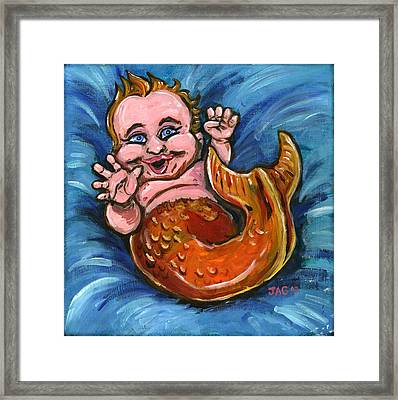 Giggly Goldie Framed Print