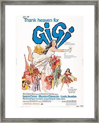 Gigi, Us Poster, Leslie Caron Center Framed Print