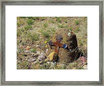 Gila Grave Framed Print by Feva  Fotos