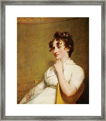 Gilbert Stuart, Eleanor Parke Custis Lewis Mrs Framed Print by Litz Collection