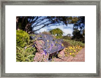 Gilcrease House Garden Flower Framed Print by Tamyra Ayles