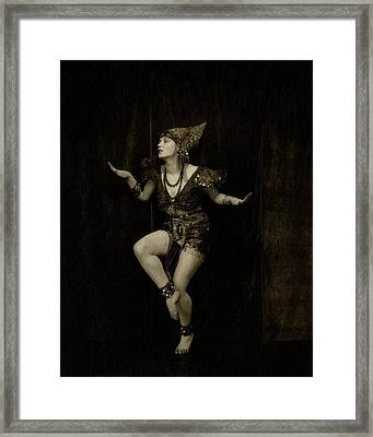Gilda Gray In Character As A Javanese Dancer Framed Print