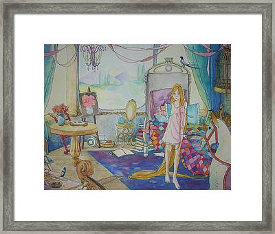 Gilded Cage Framed Print by Robin Birrell
