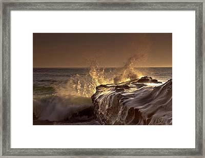 Gilded Eruption Framed Print