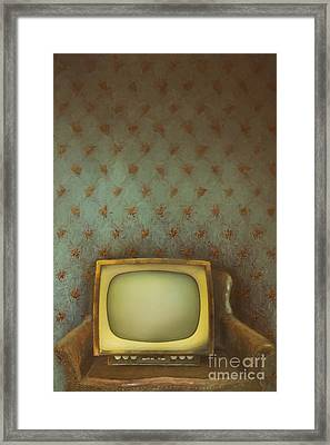Framed Print featuring the photograph Gilded Ornate Frame On Old Wallpaper/digital Painting by Sandra Cunningham