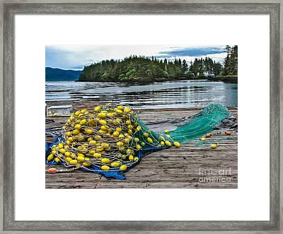 Gill Net Framed Print by Robert Bales