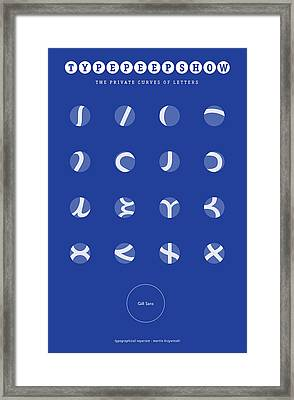 Gill Sans Type Peep Show Framed Print by Martin Krzywinski