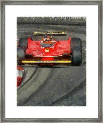 Gilles Drift Framed Print by Tano V-Dodici ArtAutomobile