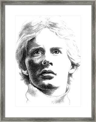 Gilles Villeneuve Framed Print by Diane Fine