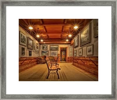Gillette Castle Gallery Room Framed Print by Susan Candelario