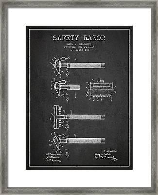 Bathroom Shaving Barber Blade 6 Official Gillette Razor 1904 Patent Art Print