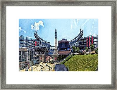 Gillette Stadium  Home Of The New England Patriots Framed Print