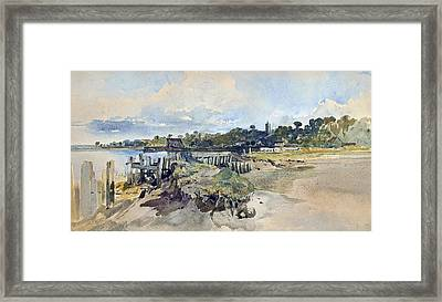 Gillingham Kent From The Medway Framed Print by William James Muller