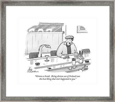 Gimme A Break.  Being Driven Out Of Ireland Framed Print