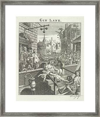Gin Lane Framed Print by British Library
