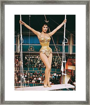 Gina Lollobrigida In Trapeze  Framed Print by Silver Screen