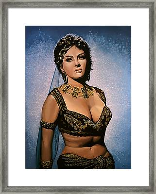 Gina Lollobrigida Painting Framed Print by Paul Meijering