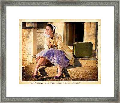 Gina On The Day Al Left Framed Print by Theresa Tahara
