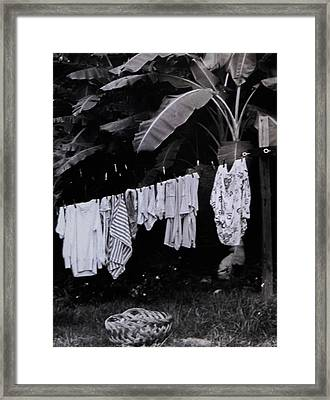Ginas Clothes Line Framed Print by Christy Usilton