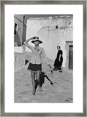 Ginette Camo In Patmos Framed Print by Henry Clarke