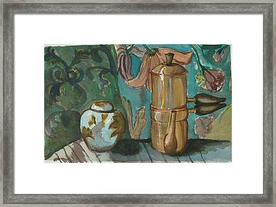Ginger And Tea Framed Print