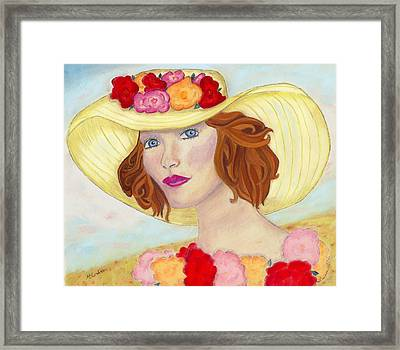 Framed Print featuring the painting Ginger by Arlene Crafton