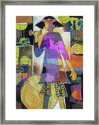 Ginger Hits The Gym Framed Print by Melody Cleary