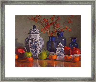 Ginger Jars Framed Print by Sarah Blumenschein