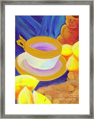 Ginger Lemon Tea By Jrr Framed Print