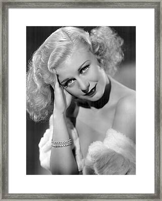 Ginger Rogers Framed Print by Daniel Hagerman