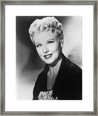 Ginger Rogers In Black Widow  Framed Print