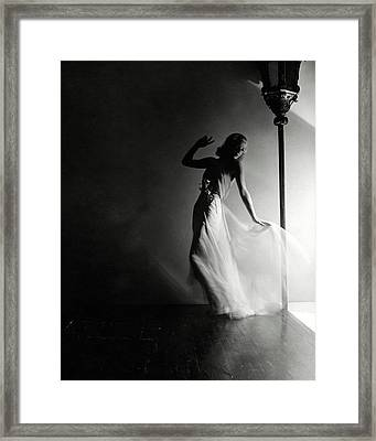 Ginger Rogers Wearing An Evening Gown Framed Print by Horst P. Horst