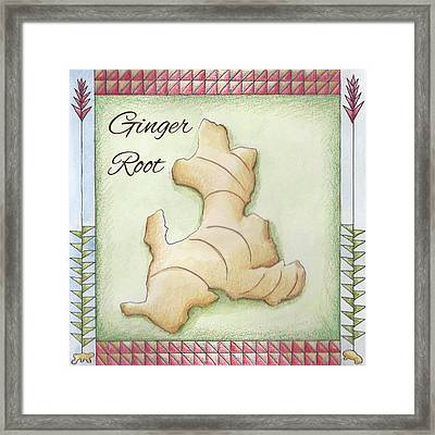 Ginger Root Framed Print by Christy Beckwith