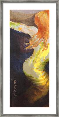 Ginger Serpentine Framed Print by Del Gaizo