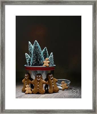 Gingerbread At Christmas Framed Print