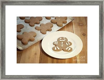 Gingerbread Cookies Framed Print